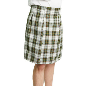 SCOTTISH KILT Tartan Green Plaid Golf COSTUME Adult Men's ...
