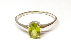 Handmade-925-Sterling-Silver-Claw-Set-Faceted-Peridot-Stone-Ring-7-x-5-mm-Size-R