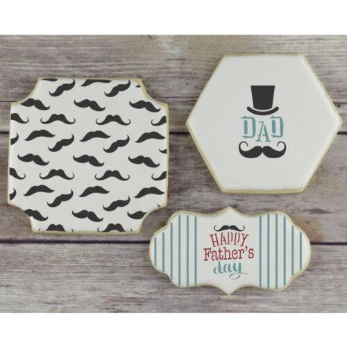 Confection Couture Mustache Background Cookie Stencil
