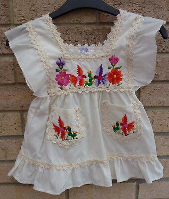 Girls natural Colour Peruvian Tanguis Organic Cotton Girls Dress