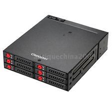 6 Bays Mobile Rack Backplane 2.5'' HDD SSD w/Cooling Fan Locker Hot-swap U4R4