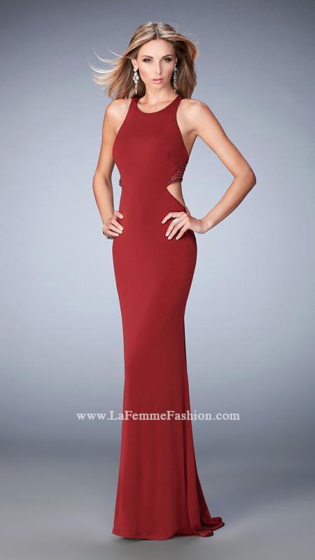 298 NWT GARNET LA FEMME PROM PAGEANT FORMAL DRESS GOWN SIZE 4