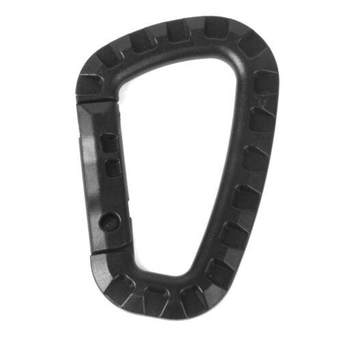 Plastic Snap Clip Hook Karabiner Camping Hanging Keychain Buckle Carabina