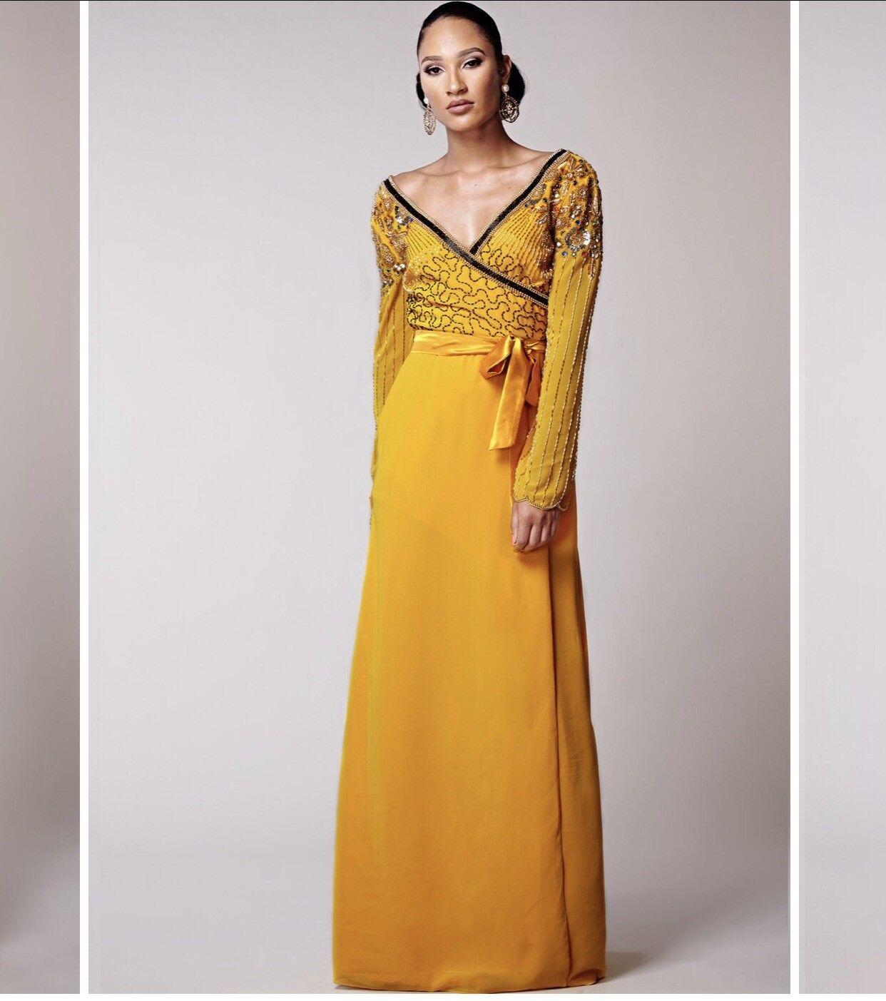 Dress 12 BNWT Virgos Lounge Embellished Maxi Wedding Prom Occassion RRP
