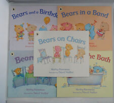 SET 5 BEARS IN BEDS BATH PICTURE STORY BOOKS SHIRLEY PARENTEAU BABY TODDLER GIFT