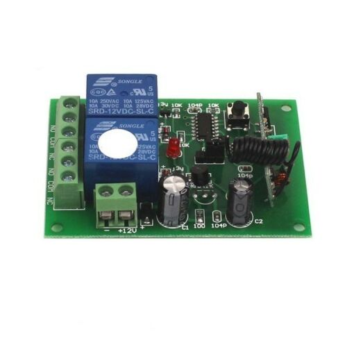 New 12V 10A 2 Channel Remote Control Switch Relay Wireless Transmitter+Receiver