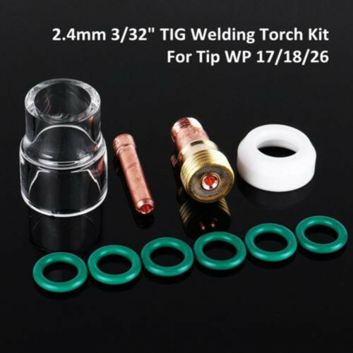 TIG Air Cooled Welding Torch Stubby Gas Lens #12 Cup Kit For WP-17//18//26 2//32