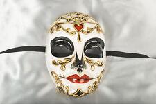 Day of the Dead Venetian Masquerade Mask for Halloween - Volto Morte