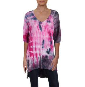 Free People Womens OB667877 Sweater Relaxed Tie Dye Multicolor Size XS