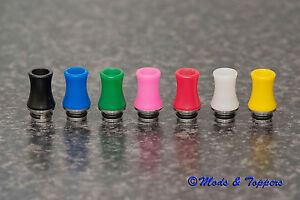 STINGRAY-X-STYLE-Mouth-Piece-SS-POM-Hybrid-510-DRIP-TIP-in-7-Colours