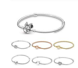 Bracciale-per-Charms-Minnie-Cuore-Bracciale-per-Ciondoli-Tipo-Simil-Pandora