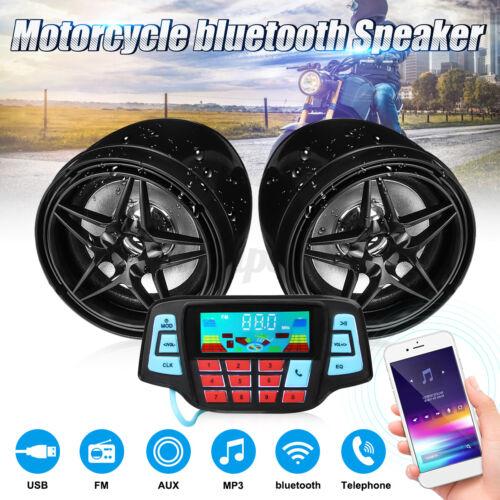 3/'/' bluetooth Motorcycle Handlebar Audio Radio System Set USB SD FM MP3
