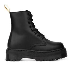 Dr. Martens Vegan Jadon II Mono Platform Black Leather Boots Women's 25310001