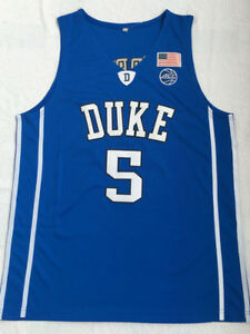 new concept 8b76e e963d Details about R.J. Barrett Jersey #5 Duke Blue Devils Stitched College  Basketball Jersey