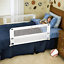 Bed Rail Double Sided White Safety Child Twin Full Queen Size Hide Away Toddler