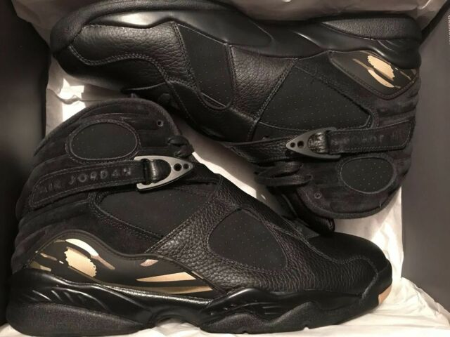 detailed look 9d9dc 00883 Air Jordan Retro 8 VIII OVO Black Gold Aa1239-045 Drake DS Size 13