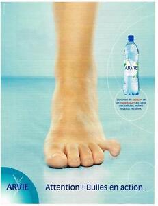 PUBLICITE ADVERTISING  2002   ARVIE  eau minérale