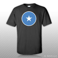 Round Somali Flag T-shirt Tee Shirt Free Sticker Somalia Som So