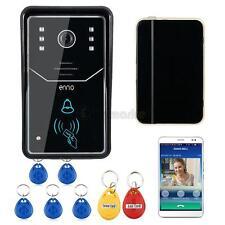 Wireless WiFi Remote Video Door Phone Doorbell IR Camera Rainproof W/RFID Key