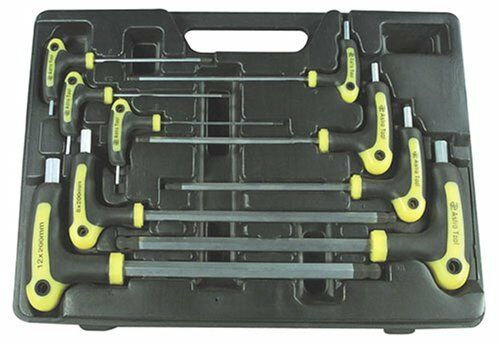 Astro Pneumatic 1026 9 Piece Metric T-4 Handle Ball Point And Hex Key Wrench Set