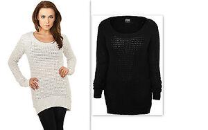 URBAN-CLASSICS-Maglia-Maglione-lungo-donna-Ladies-Long-Wideneck-Sweater-TB739