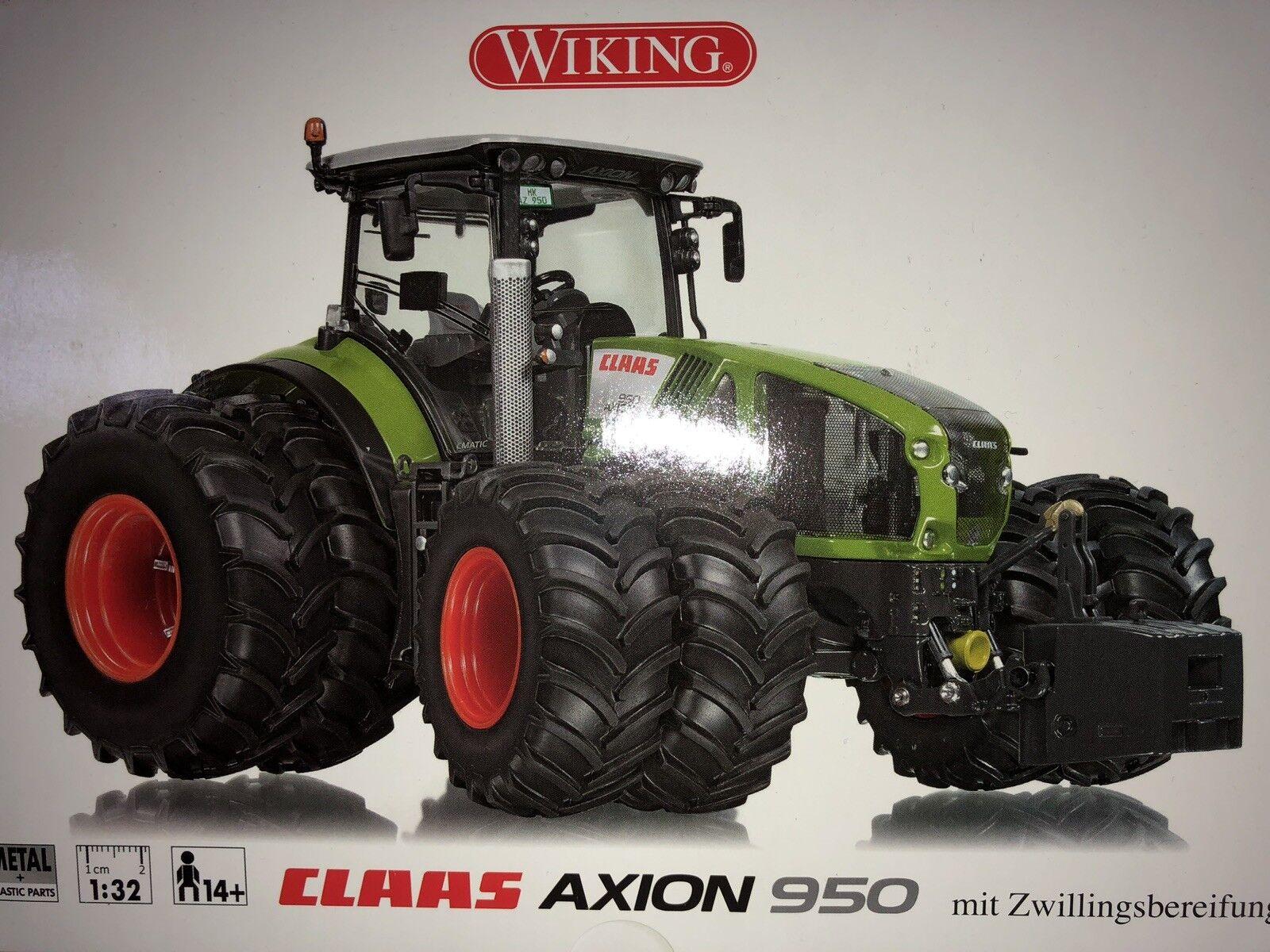 Wiking Wiking Wiking 7328 Traktor Claas Axion 950 Zwillingsbereifung 132 Landwirtschaftsfahrze  | Gute Qualität  587218
