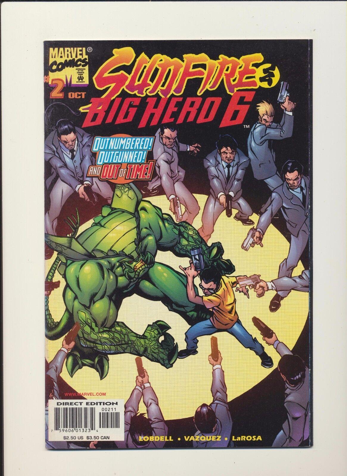 Big Hero Comic sunfire & big hero six #1 (sep 1998, marvel)