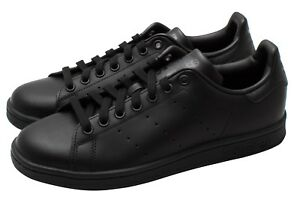 reputable site 077c4 f165a Image is loading Adidas-Originals-Stan-Smith-Mens-Trainers-Casual-Black