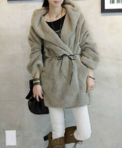 Women-Long-Sleeve-Faux-Fur-Cloak-Coat-Hoodie-Jacket-Outerwear-Cape