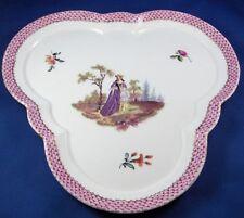 Antique Tata Porcelain Scenic Serving Dish Porzellan Schale Hungarian Hungary