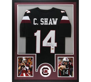 Details about Connor Shaw Signed South Carolina Large Framed Custom Black Jersey
