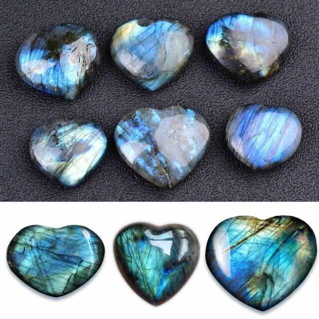 1-3Pcs Natural Healing Reiki Quartz Crystal Heart Shape Stone Gemstone Moonstone