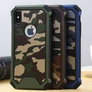 e9a9d18ae4 Hybrid Army Camo Camouflage Armor Hard Back Case Cover For iPhone X ...