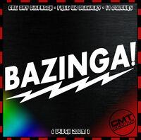 Bazinga! Car / Van Decal Bumper Novelty Sticker Funny DUB euro JDM - 17 Colours