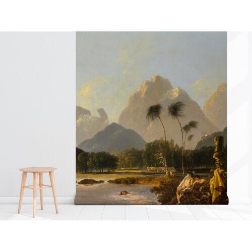 Papier Peint Autocollant Aquarelle Paradis vintage amovible Wallpaper Decal