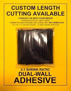 """18mm Heat Shrink 3:1 Black 6/"""" x 3 Pcs."""