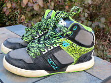OSIRIS Leather Lime Green Animal Print Lace Girls Boys Athletic Shoes Sz 5 Youth