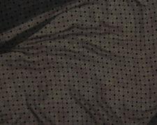 """Burnout Silk VELVET Fabric BLACK DOTS fat 1/4 18""""x22"""" remnant"""