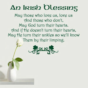 An Irish Blessing May Those Who Love Us Love Us Vinyl