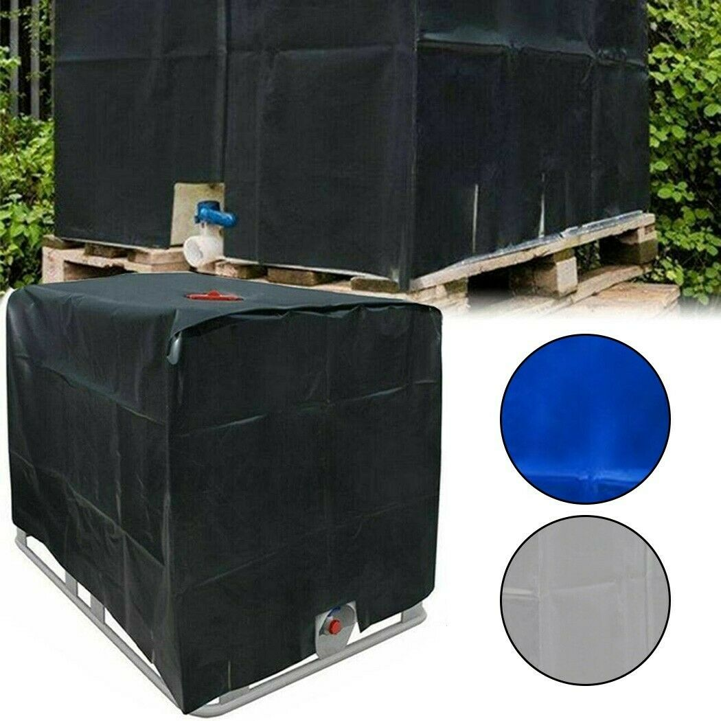 IBC Container Water Tank Cover Tarpaulin Frost Protection Thermal Cover Zipper