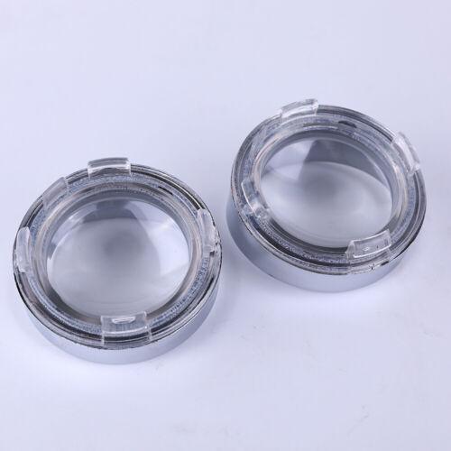 4xTurn Signal Indicator Light Clear Visor Lenses Bezel for Harley Dyna Sportster