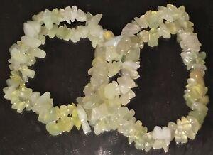 Genuine-Serpentine-Gemstone-Chip-Bracelet-Inner-Peace