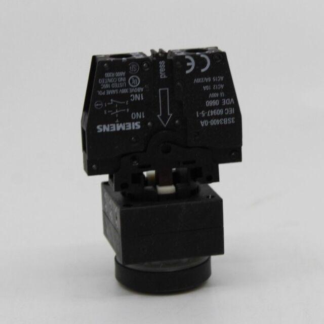 5x SIEMENS Leuchtdruckschalter 3SB3001-0DA71 Druckschalter klar 22mm VE:5 Stk.