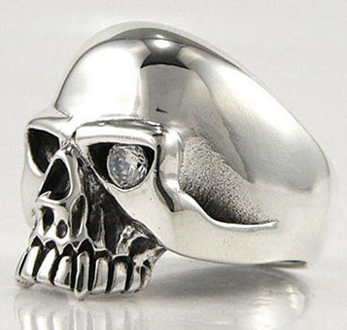 Rings Skull Rolling Flame Solid 925 Sterling Silver Mens Band Ring Biker New Rocker Fine Rings