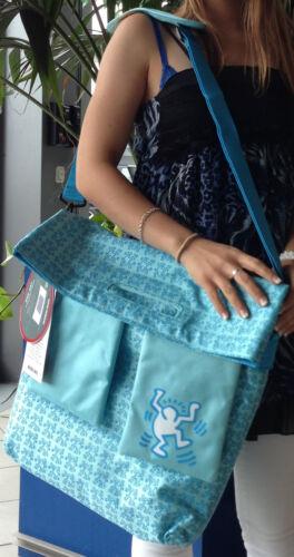 Kühltasche Picknick Tasche Kühlung Kühl Kühlakku Keith Haring PopArt blau