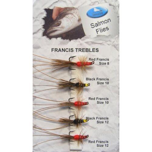 Dragon Tackle FRANCIS trebels Salmone /& Trota di lago MOSCHE gioco PESCA a mosca