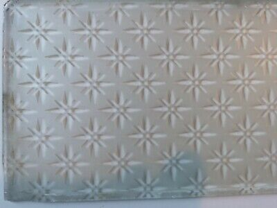 ☛ Glasornament Sterne ☚ Original um 1890 Geaetztes Tuer Fensterglas 2
