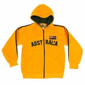 Kids-Zip-up-Hoodie-Jacket-Jumper-Australian-Australia-Day-Souvenir-Green-amp-Gold