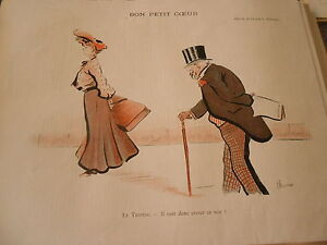 Bon Petit Coeur Le Trottin Il Veut Donc Crever Ce Soir ! Print Art Déco 1906 Qiqhijh9-07172552-363061624