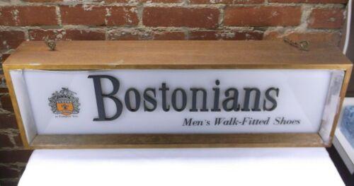 Rare Travaillant Signe Magasin Suspendu De Chaussures Lumineux Vintage Bostonians Century Mid qqUr465